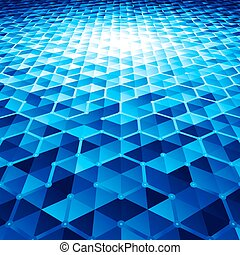 Abstract vector background with hexagons - Abstract blue...