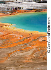 Grand Prismatic Springs - colors of Grand Prismatic Springs...