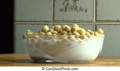 Bowl of Cereal, Milk, Grains, Breakfast Foods