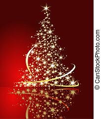 Christmas tree - Red Christmas tree background