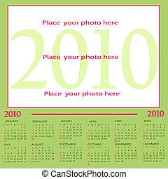 Calendar 2010 - Green Calendar 2010