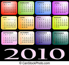 Calendar 2010 - Colored Calendar 2010