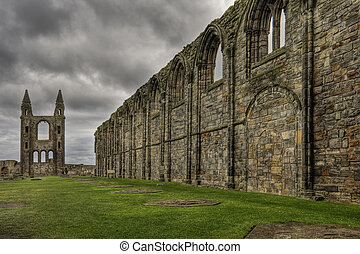 St Andrews cathedral ruins - A view of the St Andrews...