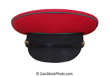 red military  hat isolated on white background