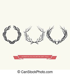 Wreaths Silhouette Set Two