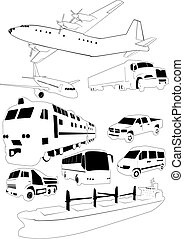 Transport silhouettes - The set of vector transport...