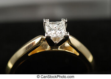 diamond ring - stock picture of a engagement ring with a...