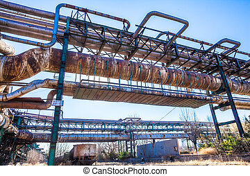 Heavy industry factory pipelines