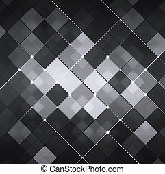 Black and White Abstract Technology Background - abstract...