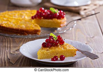 Cornmeal cake with berries - Gluten free cornmeal cake...