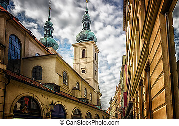 Architecture of Prague - Buildings and houses in the...
