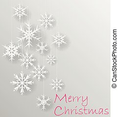 white snowflakes on white paper