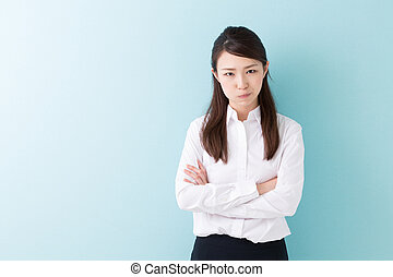 Angry woman - Angry beautiful young asian  woman