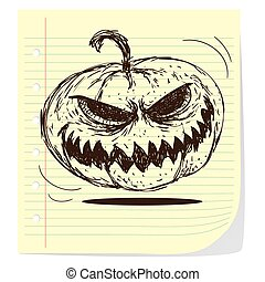 Jack o Lantern - Halloween theme vector illustration of jack...