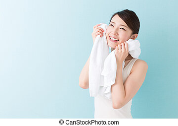 attractive asian woman - Portrait of a young attractive...