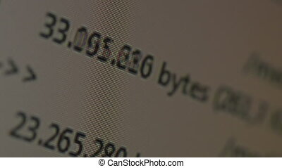 running Kilobytes per second