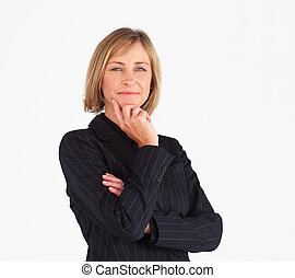 Portrait of a confident businesswoman looking at the camera