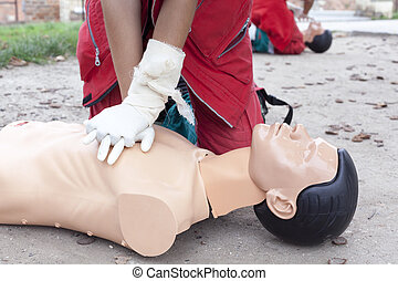 First aid - CPR training