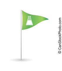 Flag with a chemical test tube