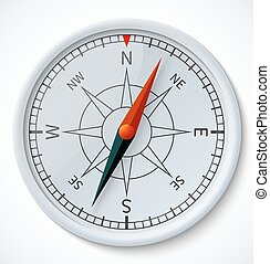 Compass isolated on a white background - Realistic compass...