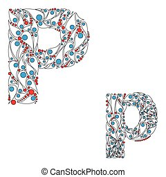 Letter P. ABC element in vector. - ABC element in vector....