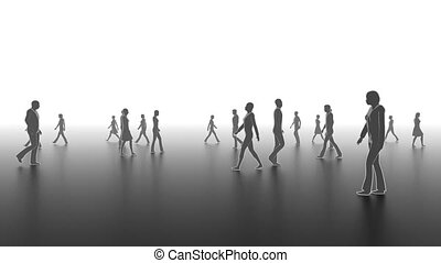Walking people - Business concept