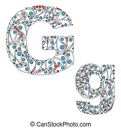 Letter G ABC element in vector - ABC element in vector...