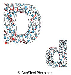 Letter D. ABC element in vector. - ABC element in vector....