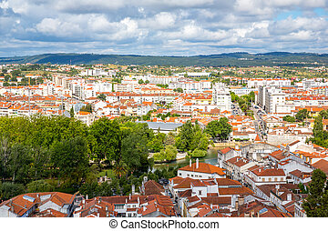 Old Town Tomar Portugal - aerial view Old Town Tomar,...