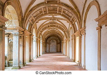 Tomar Corridor Cathedral - interior of the corridor cloister...