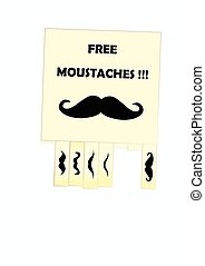 Moustaches - notice of free moustaches for your design