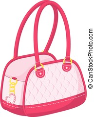 Handbag - Women's Accessories, glamorous pink handbag with...