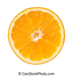 Orange Slice Isolated On White