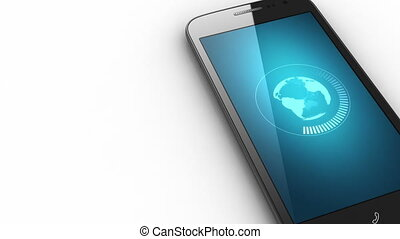 File download concept on smart phone screen - 3D mobile...