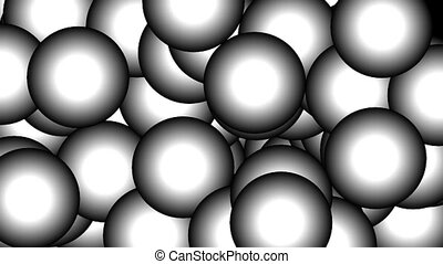 Bubbles - Animated background sequence with growing and...