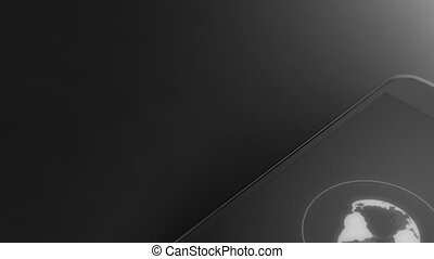 Searching on world wide web concept on smart phone black...