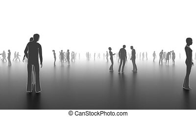 People in brainstorming concept - Walking people
