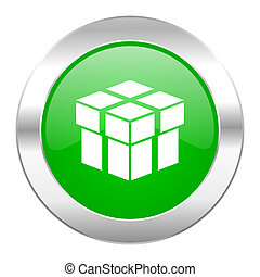 box green circle chrome web icon isolated