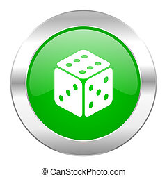 game green circle chrome web icon isolated