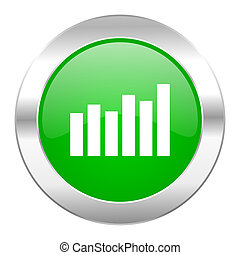 graph green circle chrome web icon isolated