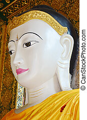 Buddha image statue Burma Style of Shwedagon Pagoda or Great...