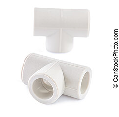 polypropylene fittings isolated