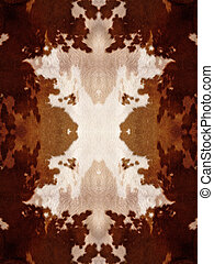Kaleidoscope Cow Hide Pattern - Brown and white kaleidoscope...