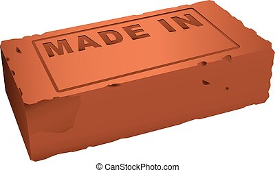 Brick is made in