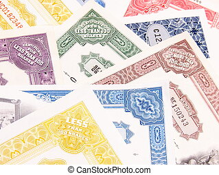 Colorful Stock Certificates