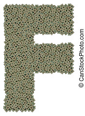 letter F made of dirty microprocessors