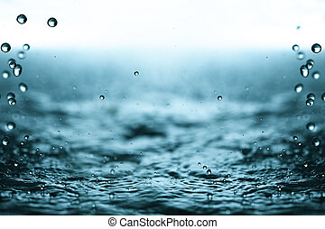 Rain drops - Water surface and rain drops