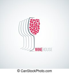 wine glass abstract background - wine glass abstract design...