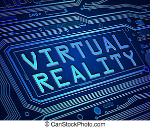 Virtual reality concept. - Abstract style illustration...