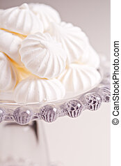 Meringues on a cake stand